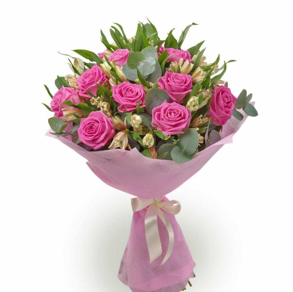 Букеты розы с другими цветами