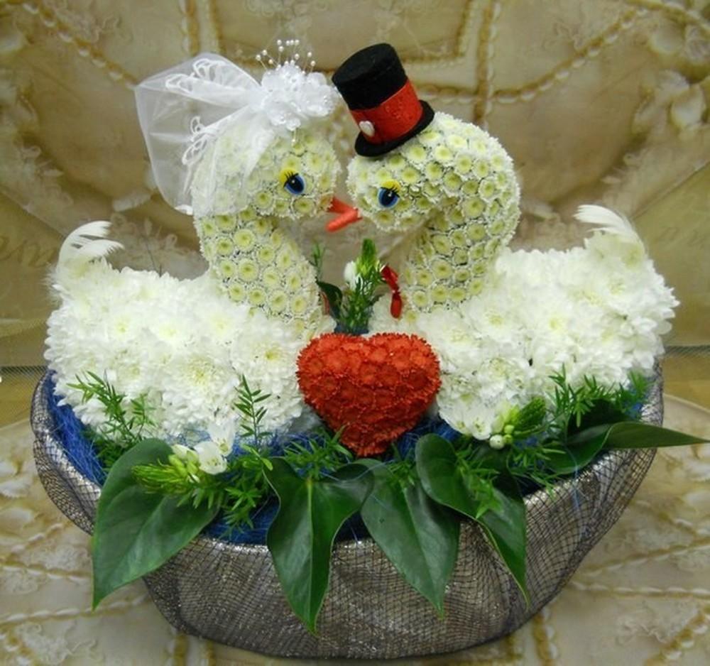 Фигурки из цветов пошагово