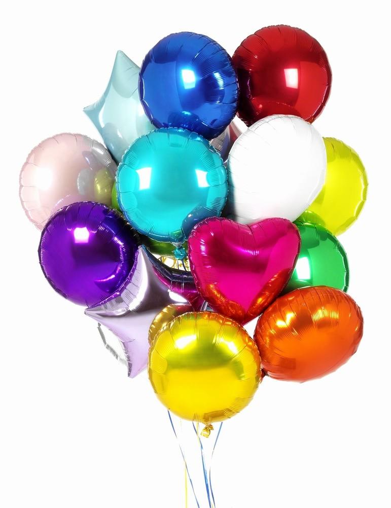 Воздушные шарики на белом фоне фото