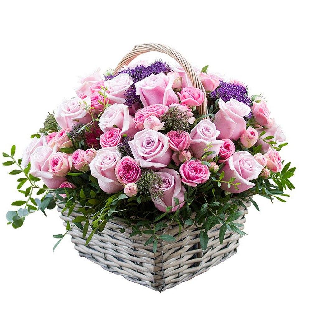 Картинки корзинка цветы