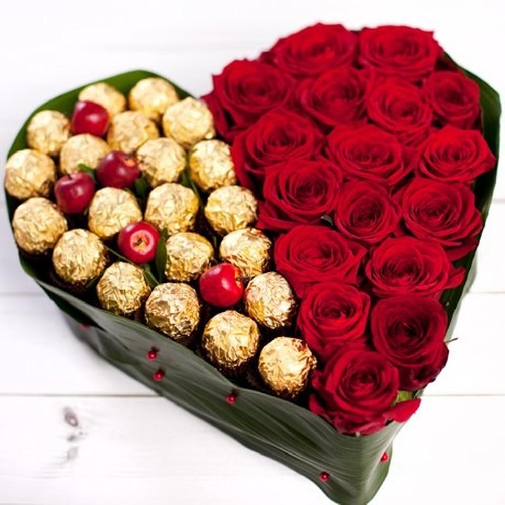Оригинальный букеты на день влюбленных девушке, цветов омск